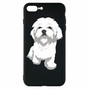 Phone case for iPhone 8 Plus Beautiful white dog