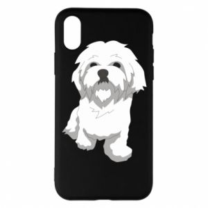 Phone case for iPhone X/Xs Beautiful white dog
