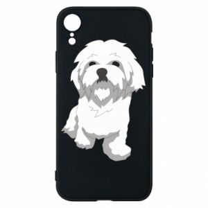 Phone case for iPhone XR Beautiful white dog