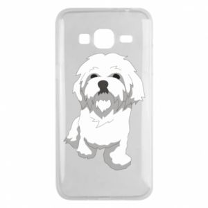 Phone case for Samsung J3 2016 Beautiful white dog