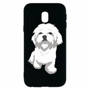 Phone case for Samsung J3 2017 Beautiful white dog