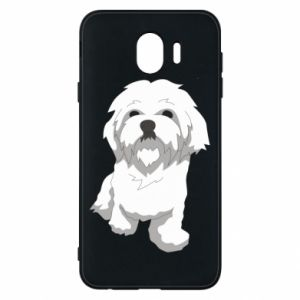 Phone case for Samsung J4 Beautiful white dog