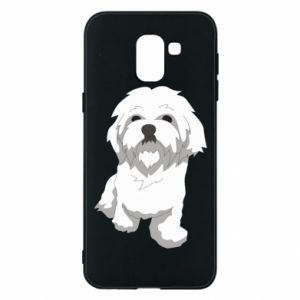 Phone case for Samsung J6 Beautiful white dog