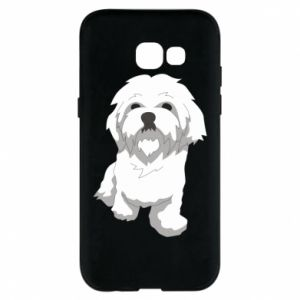 Phone case for Samsung A5 2017 Beautiful white dog