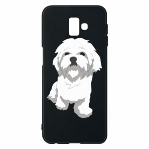 Phone case for Samsung J6 Plus 2018 Beautiful white dog