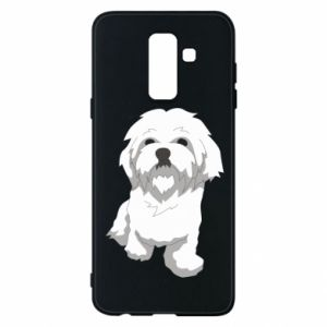 Phone case for Samsung A6+ 2018 Beautiful white dog