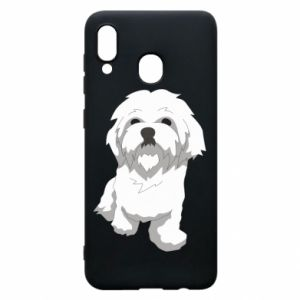 Phone case for Samsung A20 Beautiful white dog
