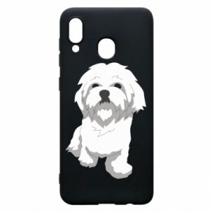 Phone case for Samsung A30 Beautiful white dog