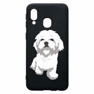 Phone case for Samsung A40 Beautiful white dog