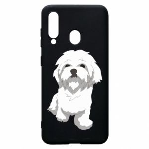 Phone case for Samsung A60 Beautiful white dog