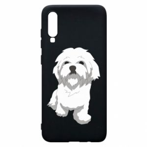 Phone case for Samsung A70 Beautiful white dog