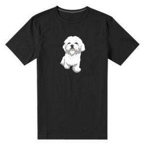 Męska premium koszulka Beautiful white dog