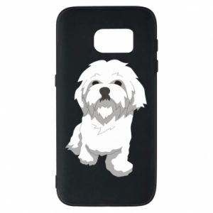 Phone case for Samsung S7 Beautiful white dog