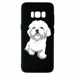 Phone case for Samsung S8 Beautiful white dog