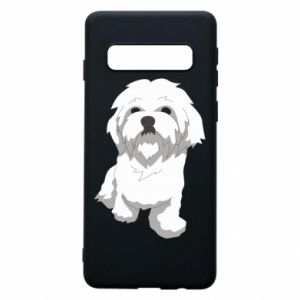 Phone case for Samsung S10 Beautiful white dog