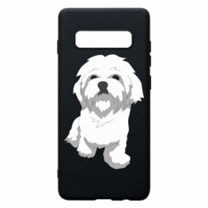 Phone case for Samsung S10+ Beautiful white dog