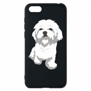 Phone case for Huawei Y5 2018 Beautiful white dog