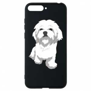 Phone case for Huawei Y6 2018 Beautiful white dog