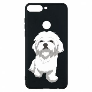 Phone case for Huawei Y7 Prime 2018 Beautiful white dog
