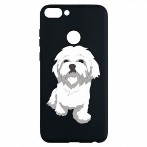 Phone case for Huawei P Smart Beautiful white dog