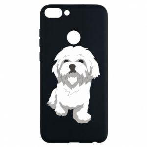 Etui na Huawei P Smart Beautiful white dog