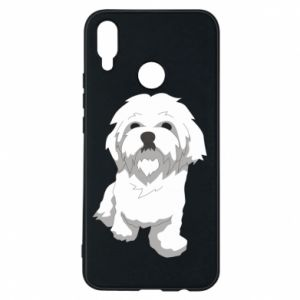 Phone case for Huawei P Smart Plus Beautiful white dog