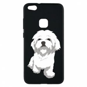 Phone case for Huawei P10 Lite Beautiful white dog