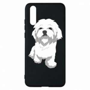 Phone case for Huawei P20 Beautiful white dog