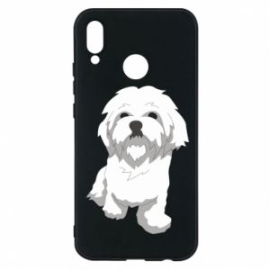 Phone case for Huawei P20 Lite Beautiful white dog