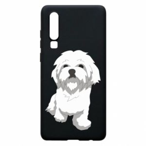 Phone case for Huawei P30 Beautiful white dog