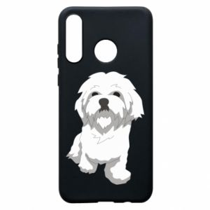 Phone case for Huawei P30 Lite Beautiful white dog