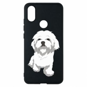 Phone case for Xiaomi Mi A2 Beautiful white dog