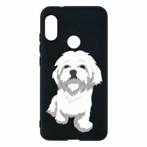 Phone case for Mi A2 Lite Beautiful white dog