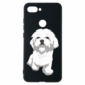 Phone case for Xiaomi Mi8 Lite Beautiful white dog