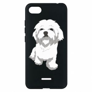 Phone case for Xiaomi Redmi 6A Beautiful white dog