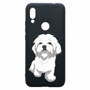 Phone case for Xiaomi Redmi 7 Beautiful white dog