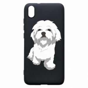 Phone case for Xiaomi Redmi 7A Beautiful white dog