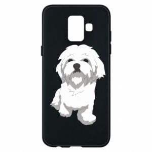 Phone case for Samsung A6 2018 Beautiful white dog