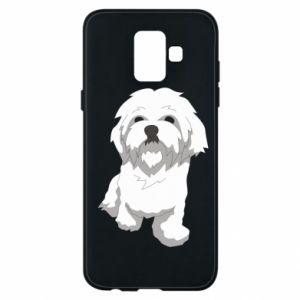 Etui na Samsung A6 2018 Beautiful white dog