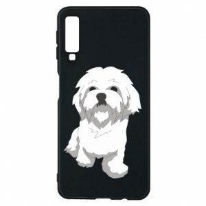 Phone case for Samsung A7 2018 Beautiful white dog