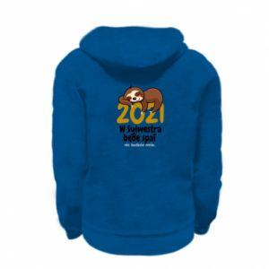 Kid's zipped hoodie % print% I'll sleep