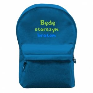 Plecak z przednią kieszenią Będę starszym bratem