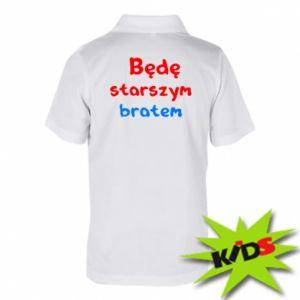 Dziecięca koszulka polo Będę starszym bratem