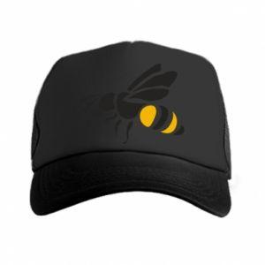 Trucker hat Bee in flight - PrintSalon