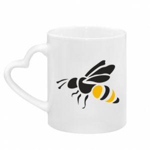Kubek z uchwytem w kształcie serca Bee in flight