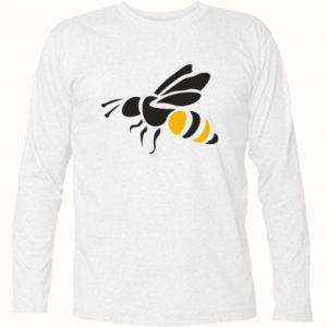Long Sleeve T-shirt Bee in flight - PrintSalon