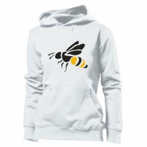 Women's hoodies Bee in flight - PrintSalon