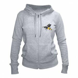 Women's zip up hoodies Bee in flight - PrintSalon
