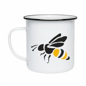 Kubek emaliowane Bee in flight