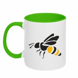 Two-toned mug Bee in flight - PrintSalon
